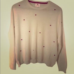 Wool Cashmere Little Hearts Ivory Sweater size 2